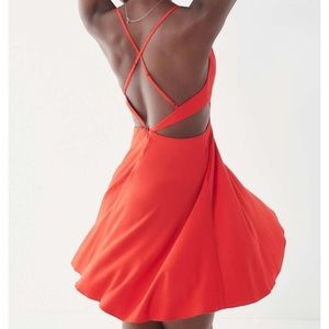 Urban Outfitters Dresses - New UO Margarita Red Cut-Out Mini Dress (S)